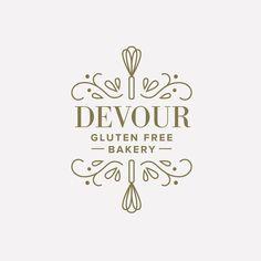Devour bakery logo design graphic design logolar, tasarım, b Logo Branding, Cookies Branding, Cake Branding, Branding Design, Marketing Branding, Logo Inspiration, Cake Logo Design, Bakery Design, Restaurant Logo Design