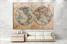 old World map №862 Canvas Print