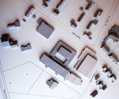 Städtebauliches Modell Stadt Kerken - Draufsicht