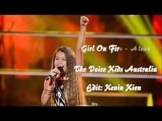 [Video Lyrics] Girl On Fire - Alexa | The Voice Kids Australia