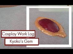 Tutorial + Cosplay Work Log : Hot glue Gems for Kyoko Sakura's soul gem