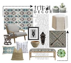 """""""Tribal Decor"""" by designed-4-life ❤ liked on Polyvore featuring interior, interiors, interior design, home, home decor, interior decorating, Jaipur, Gloster, Safavieh and Arteriors"""