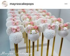 """Whatever you do, do it well. Minnie Maus Cake Pops, Minnie Mouse Cookies, Bolo Minnie, Mickey Mouse Cake, Minnie Mouse Pink, Minnie Mouse Party, Mickey Cakes, Birthday Sweets, 2nd Birthday Party Themes"