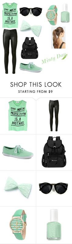 """Minty Day"" by origc-simpson ❤ liked on Polyvore featuring 5 Preview, Yves Saint Laurent, Keds, Sherpani, Geneva, Essie and France Luxe"