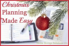 Recommended resources (including a free one) for Christmas planning, so your holidays can be joyful and stress free {on Home Storage Solutions 101}