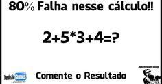 Solução - Expressão numérica.