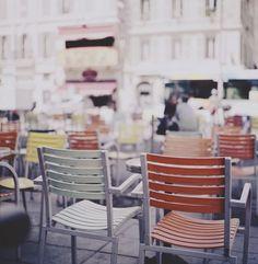 Sidewalk cafe in Provence