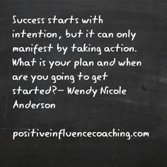 If you have a plan you will succeed