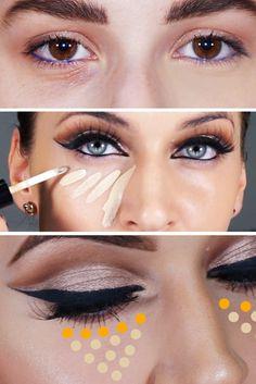 Ako sa zbaviť kruhov pod očami + video návod na zakrytie Detox, Make Up, Rings, Masky, Jewelry, Scrappy Quilts, Jewlery, Jewerly, Ring