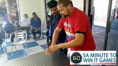 Carnaud Metal Box Food SA Corporate Fun Day and Minute To Win It team building event in Cape Town, facilitated and coordinated by TBAE Team Building and Events Team Building Events, Team Building Activities, International Games, Team Building Exercises, Minute To Win It Games, Hands In The Air, The Minute, Metal Box, Flipping