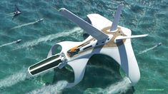 Concept ship design by our modeling friend Diego Gonzalez for Space Command. … Concept ship design by our modeling friend Diego Gonzalez for Space Command. Keywords: concept ocean watercraft hydrofoil clipper d… Yacht Design, Boat Design, 3d Design, Design Model, Concept Ships, Concept Cars, Colani, Float Your Boat, Yacht Boat