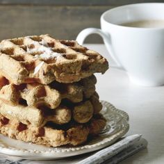 Cacao-Coconut Waffles with Almond Milk Steamers