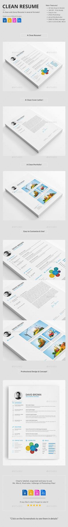 Word Resume Template - Resume Template for Word + Cover Letter - microsoft word resume template free