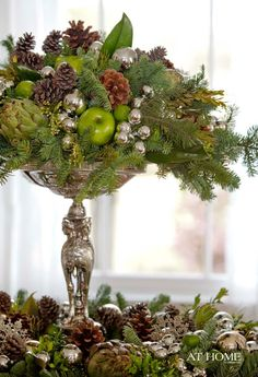 Elegant And Natural Tall Table Centerpiece