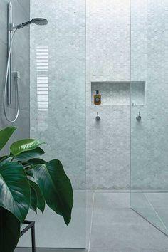 Bathroom decor for your bathroom renovation. Discover master bathroom organization, bathroom decor suggestions, master bathroom tile some ideas, master bathroom paint colors, and much more. Bathroom Trends, Bathroom Renovations, Bathroom Ideas, Bathroom Inspo, Bathroom Layout, Bathroom Makeovers, Serene Bathroom, Bathroom Niche, Tile Layout