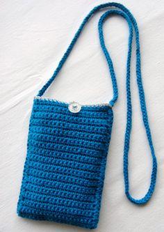 Kan du heller aldrig finde mobilen? Denne fine taske er nemt hæklet i din yndlingsfarve