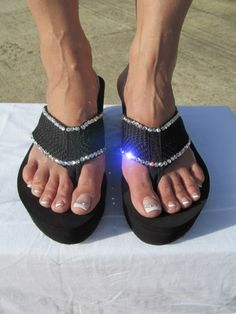 Scandalous - Miss Addressed  - Black Wege Flip Flop Size 6 thru 10