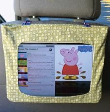 how to make your own tablet/ipad holder for the car Handmade Crafts, Diy And Crafts, Diy Auto, Create Kids Couture, Road Trip Activities, Ipad Holder, Pug, Diy Car, Patch Quilt