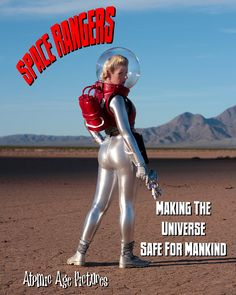 Here is actress Amanda Lee as Andromeda Jones in her EVA suit, in Space Rangers. Science Fiction Art, Pulp Fiction, Space Costumes, Space Suit Costume, Space Girl, Space Age, Space Fashion, Space Cowboys, Atomic Age