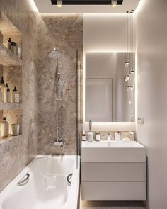 Minimalist Bathroom Design, Bathroom Design Luxury, Bathroom Layout, Modern Bathroom Design, Bathroom Ideas, Bathroom Organization, Bathroom Designs, Minimal Bathroom, Bath Design