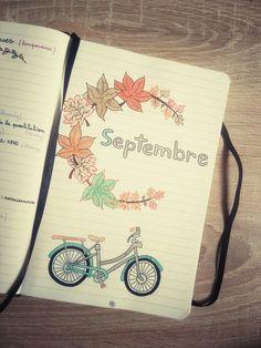 Bullet Journal Septembre 2017 Bullet Journal September 2017 Automne, Autumn / Vélo, Bike / Page / Fall