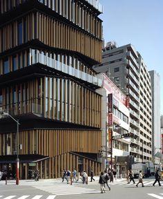Kengo Kuma - Stapelgebäude in Tokyo eröffnet