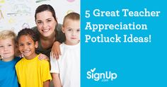 You can't beat going the tried and true route of potluck meals to show appreciation for your beloved teachers. Organizing a potluck breakfast, brunch or luncheon has never been easier than with SignUp.com's free online potluck SignUps - automating eve Potluck Meals, Potluck Recipes, School Classroom, Classroom Activities, Teacher Appreciation Week, Best Teacher, Organizing, Eve, Brunch