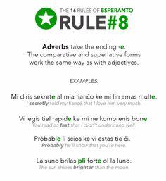 esperanto: rule 8