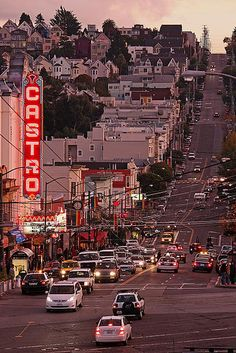 Castro's Lights | Flickr.  [The Castro district was the center of San Francisco gay life in the late 20th Century and during the AIDS epidemic. -- Holdwine]