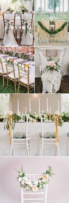 30 Creative Chair Decor Ideas For Spring Weddings