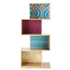 Scaffale multicolore in legno ... - Bamako