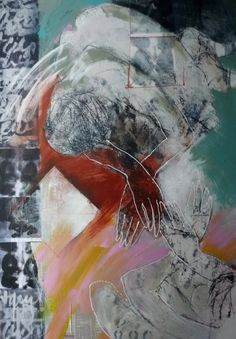 twins ;mixed media on canvas 100-70  Marjan Nagtegaal
