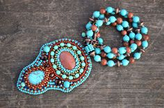 Turquoise Copper Bead Embroidered Necklace Goldstone Necklace Beadwork Pendant Necklace Seed Bead Necklace Bead embroidery jewelry Beaded Bead embroidered Goldstone necklace Beadwork Pendant Turquoise Copper Bead embroidery embroidered necklace goldstone pendant turquoise goldstone embroidered jewelry aventurine pendant seed bead necklace turquoise rust Eastern Rinok 56.00 USD #goriani