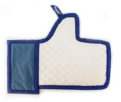 """FACEBOOK """"LIKE"""" OVEN MITT!! - SOO cute!!! Check it out at ::  http://thewateringmouth.com/facebook-like-oven-mitt"""