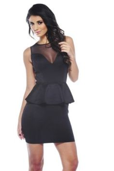 AX Paris Sweet Heart Mesh Front Peplum Dress REVIEW
