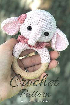 Crochet Animal Patterns, Crochet Animals, Crochet Ideas, Knitting Patterns, Crochet Baby Toys, Crochet For Boys, Crochet Elephant, Unique Crochet, Amigurumi Toys