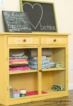 Mustard Seed Yellow cabinet