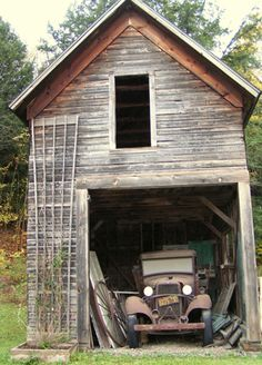 Barn with old Truck - looks like a '32 Ford,     ........................................................ Please save this pin... ........................................................... Because for real estate investing... Visit!  http://www.OwnItLand.com