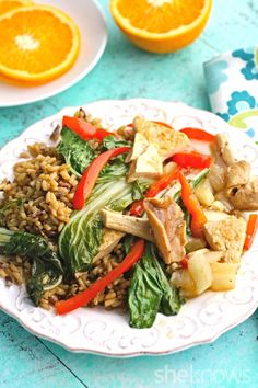 Shiitake, Bok Choy & Tofu Stir-Fry: This stir-fry is only 30 minutes away, and anything but boring!