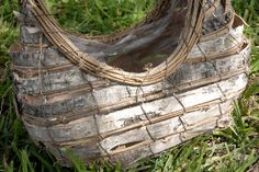 "12"" Birch and Grapevine Basket with Liner $10.99 each / 3 for $10 each 12"" wide x 6.5"" deep x 13.5"" tall made with grapevine & birch bark has a wire frame grapevine handle plastic liner if you want to use as a planter. Regular price $16 each"