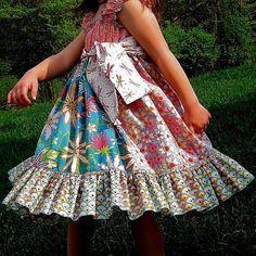 Cute little girls dress. Stylish lil girls ;) | Big Fashion Show little girls dresses