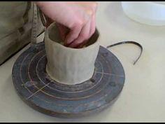 陶芸(pottery) めしわんの作り方 ひも作り How to make a japanese rice bowl. - YouTube