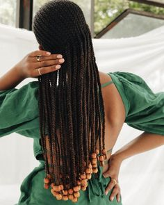 Black Cornrow Hairstyles, Roller Set Natural Hair, Blonde Hair Black Girls, Black Hair, Curly Hair Styles, Natural Hair Styles, Braids With Beads, 4 Braids, Braid Out