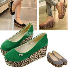 $12.30 Fashion Womens Platform Synthetic Leather High Heels Wedges Pumps Shoes US Size 5-8
