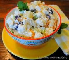 Fluffy Mac and Fruit Salad at Miz Helen's Country Cottage
