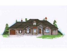 Eplans European House Plan - European Traditional Rambler - 2312 Square Feet and 2 Bedrooms from Eplans - House Plan Code HWEPL75138