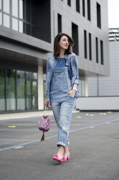 denim total look | denim outfit | how to style denim jumpsuit