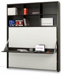 It Side folding italian wall bed desk from Murphysofa