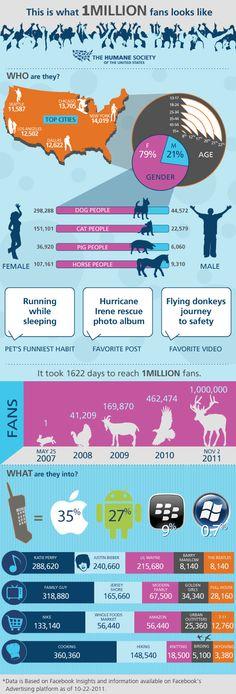 Interesting Infographic on 1 million fans.
