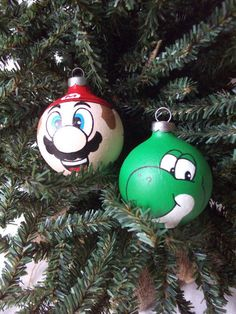 Mario Boo Christmas Ornament- One Hand Painted Mario Inspired ...